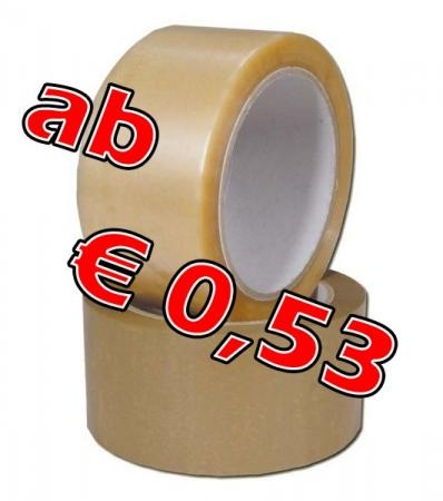 PP Klebeband 50 mm x 66 m, transparent